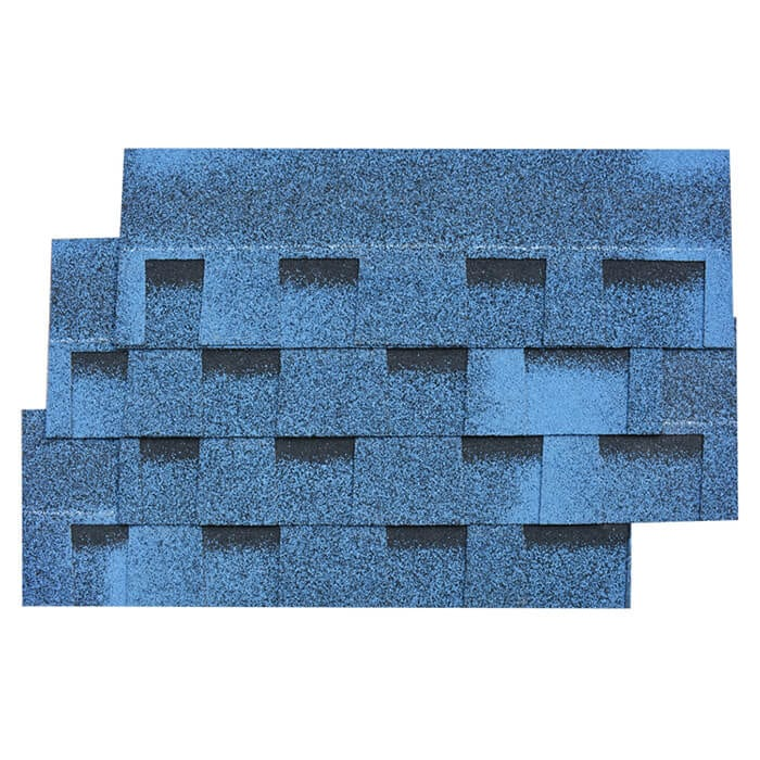 Көп-түсү Күйүп Blue Laminated Asphalt Roof жарылып