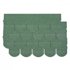 Chateau Green Fish Scale Kwalta Rufin Shingle