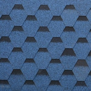 Burning Blue Hexagonal Asphalt Roof Shingle
