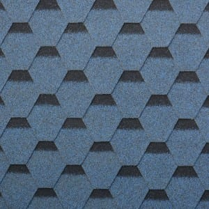 Harbour Blue Kuusikulmainen Asfaltti Roof Shingle