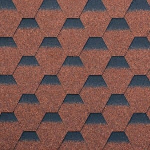 Chinese Rode Hexagonal Asphalt Roof Shingle