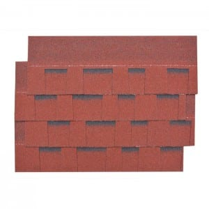 Burning Red Gelaagd Asphalt Roof Shingle