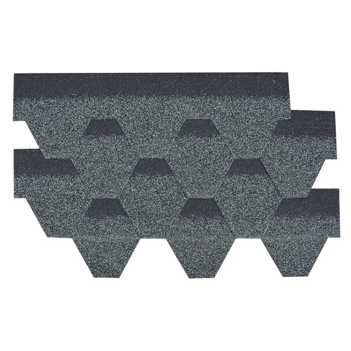 Estate Grey Hexagonal Asphalt Roof Shingle