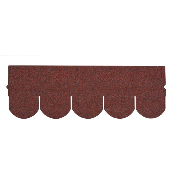 Asia Red Fish Scale Asphalt Roof Shingle
