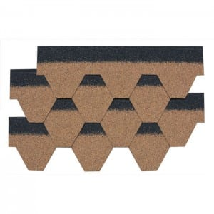 Desert Tan Hexagonal Asphalt Roof Shingle