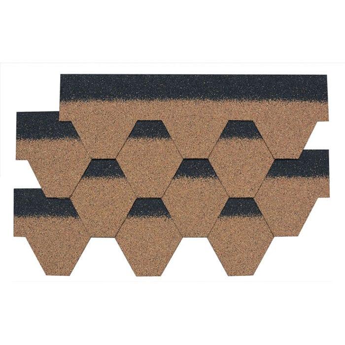 Trending Products Bitumen Felt Roofing Shingles - Desert Tan Hexagonal Asphalt Roof Shingle – BFS BUILDING