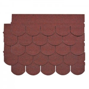 Asian Red Fish Scale Kwalta Rufin Shingle