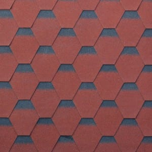 Burning Red Hexagonal Asphalt Roof Shingle