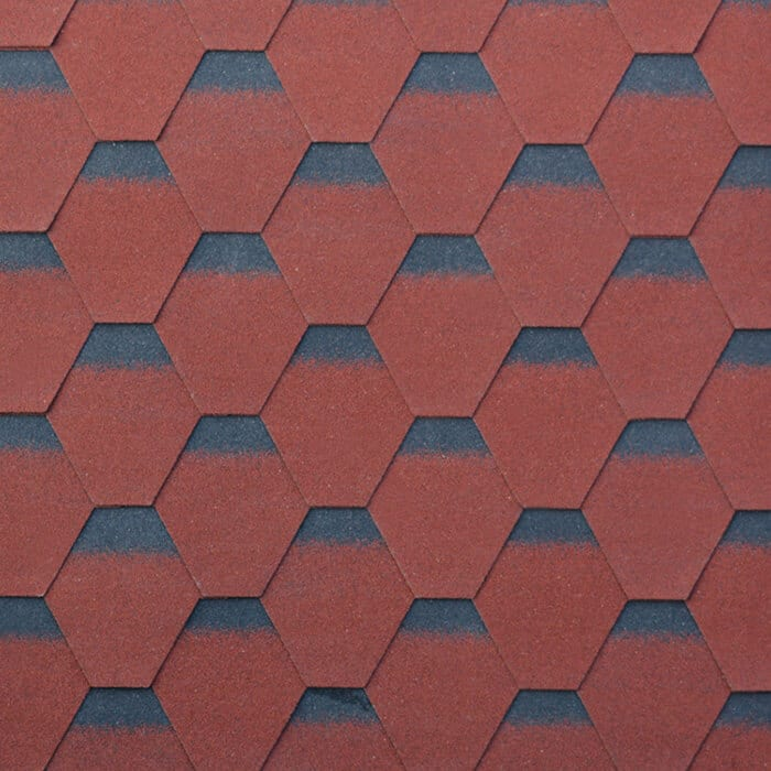Burning Red Kuusikulmainen Asfaltti Roof Shingle Featured Image