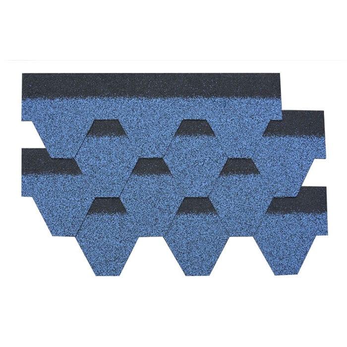 Şewitandina Blue Hexagonal Asphalt Banî Shingle