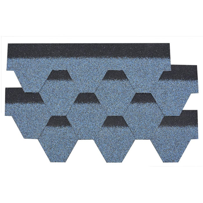 Harbor Blue Hexagonal Asphalt Roof Shingle
