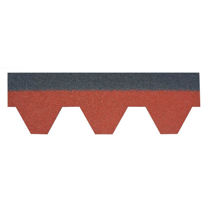 Burning Red Kuusikulmainen Asfaltti Roof Shingle