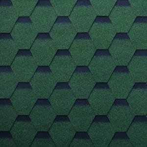 Kākela Green Hexagonal anoaeuoiauo kaupaku Shingle