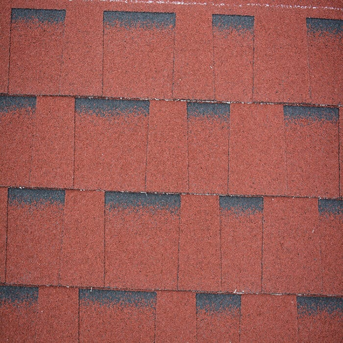 Burning Red Laminated Asphalt Roof Shingle