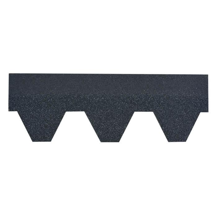 Agate Black Hexagonal Asphalt Roof Shingle