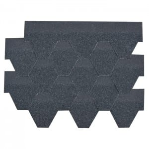 Agate Black Hexagonal Asphalt Roof Shingle