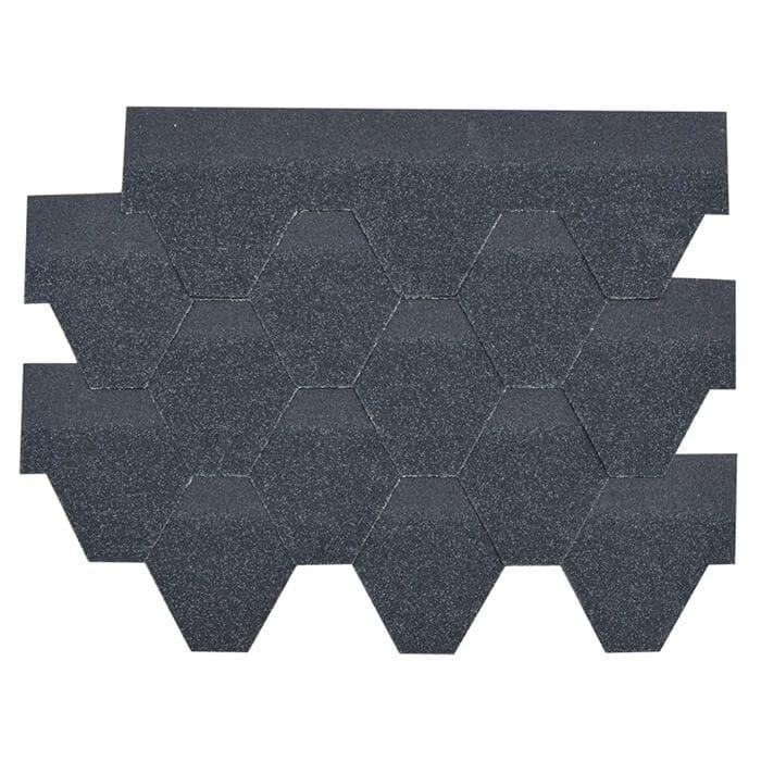 2017 Latest Design Fiberglass Waterproof For Shingle - Agate Black Hexagonal Asphalt Roof Shingle – BFS BUILDING